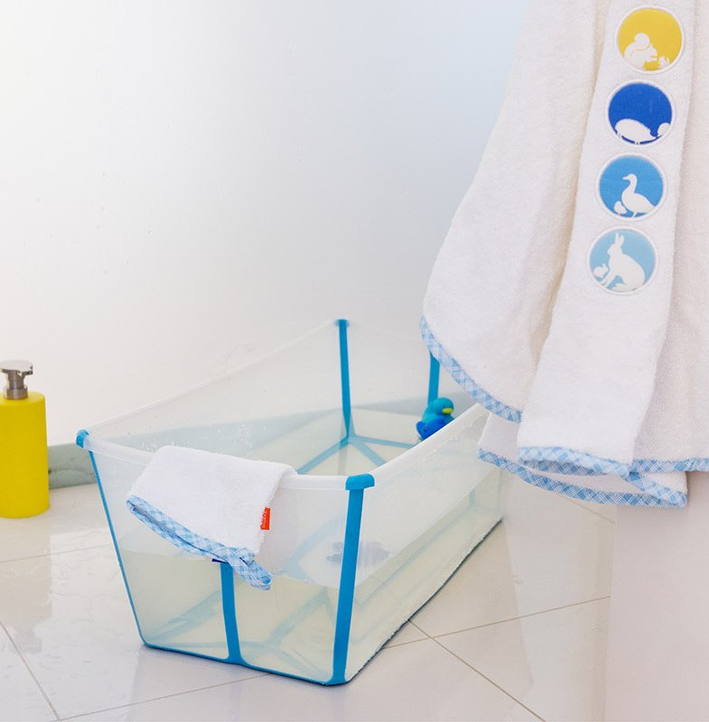 Foldable baby bath from Stokke