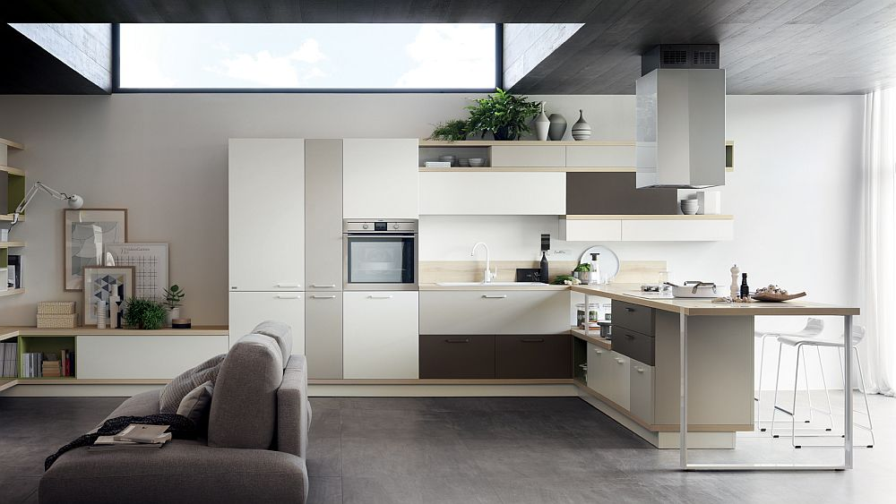 Foodshelf explores a new horizontal linearity in the contemporary kitchen