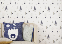 Forest wallpaper by ferm LIVING 217x155 15 Tasteful Wallpapers Inspired by Nature