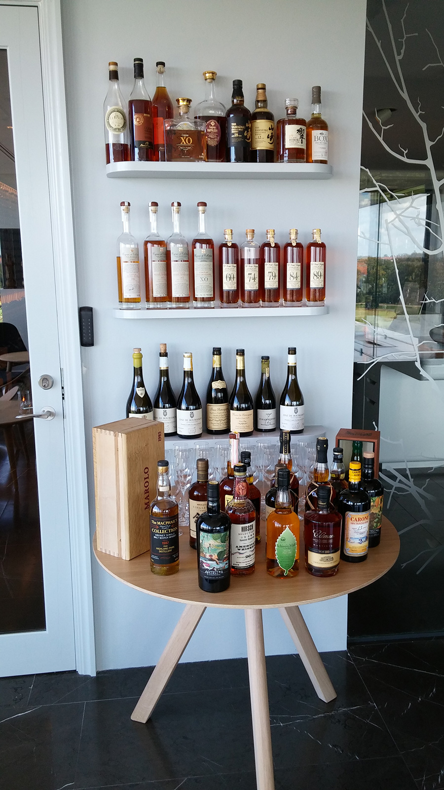 Fully Stocked Bar at Geranium Copenhagen