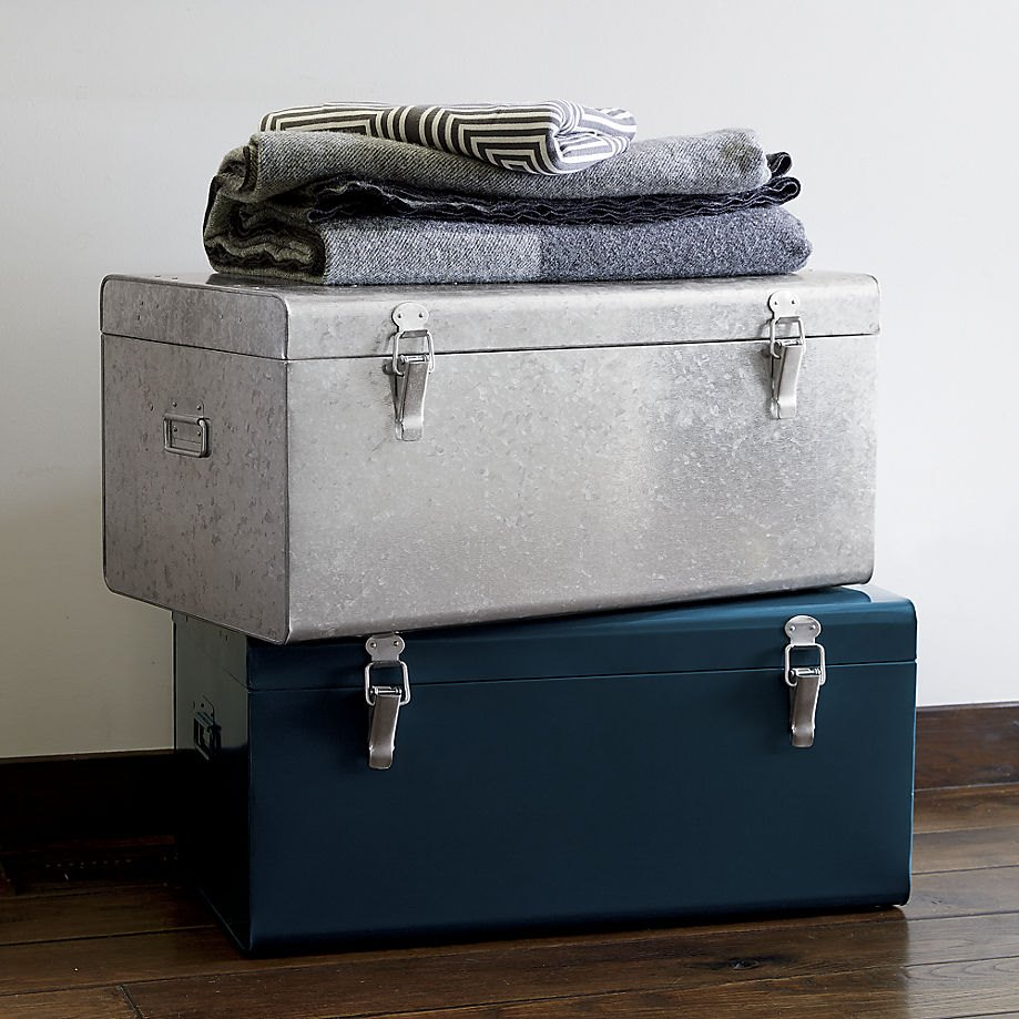 Galvanized trunks from CB2