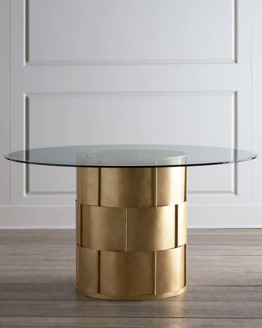View In Gallery Glam Metal And Glass Dining Table From Horchow