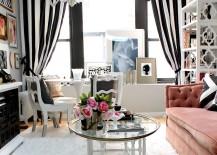 Glamorous NYC twist to the shabby chic style [Design: Nichole Loiacono Design]