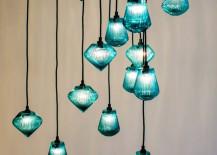 Glass bead pendant light by Tom Dixon