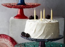 Glass cake stand from Anthropologie