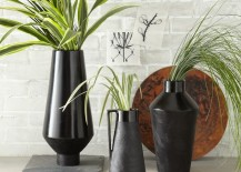 Black terracotta vases from West Elm