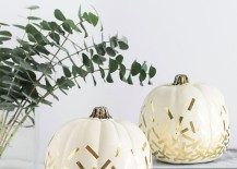 Gold confetti pumpkins from Homey Oh My!