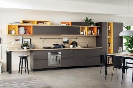Foodshelf: Fresh, Fluid Design Unites Living Room and Kitchen