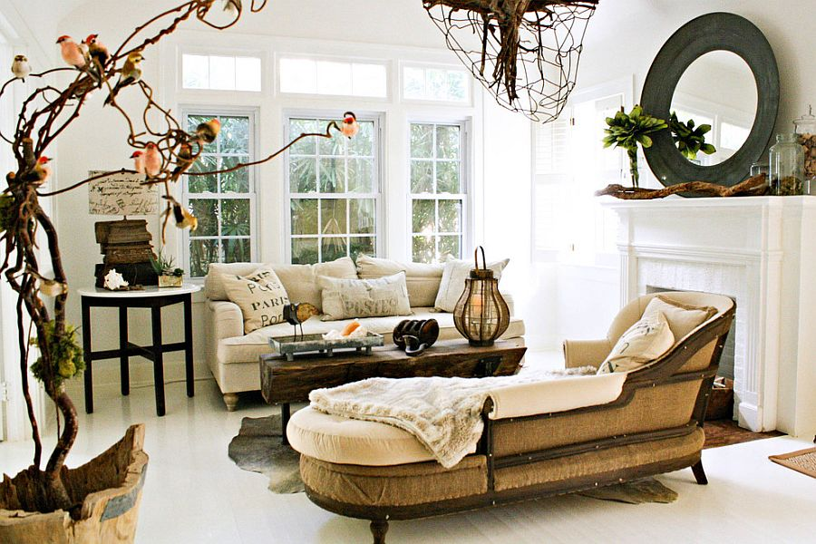 50 resourceful and classy shabby chic living rooms for Vintage chic living room ideas