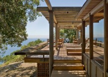 Gorgeous outdoor deck with relaxing lounge and ocean views 217x155 Captivating Ocean Views and Cozy Ambiance Await at Big Sur Cabin
