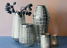 Grid vases from West Elm