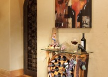 Hall table with wine rack made with an old barrel 217x155 8 Stunning Uses for Old Wine Barrels