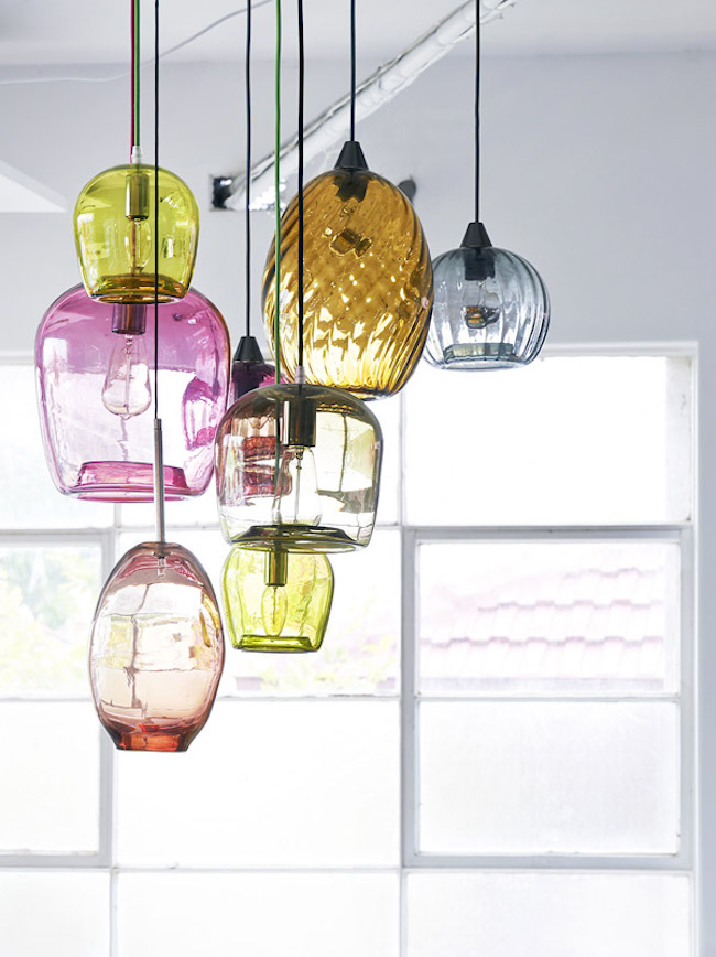 15 blown glass pendant lighting ideas for a modern and sleek glow view in gallery handblown glass pendant lights by mark douglass aloadofball Images