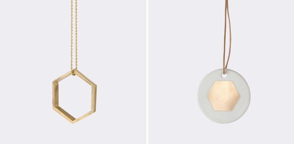 Hexagon ornaments from ferm LIVING