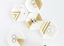 Hexagon ring dishes from Homey Oh My!