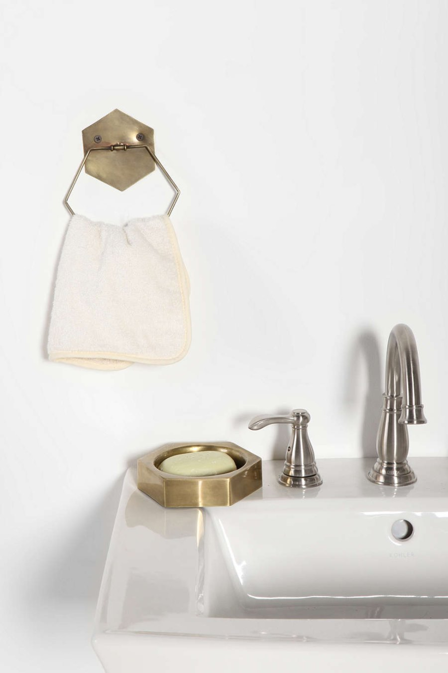 Hexagonal bathroom finds from Urban Outfitters