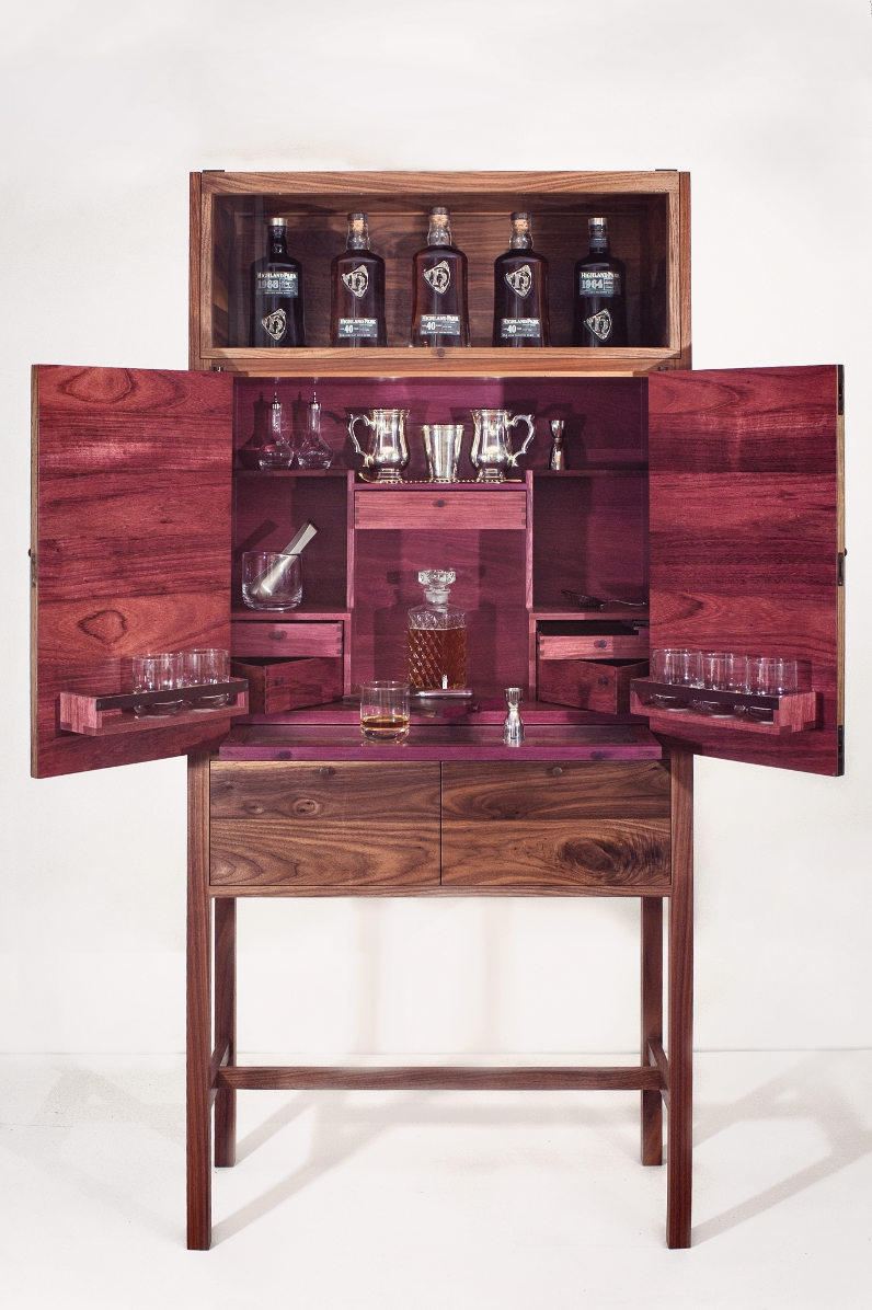 Highland Park drinks cabinet by John Galvin Design