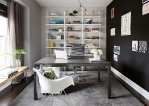 Home-office-in-gray-with-dark-accent-wall-217x155