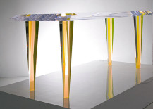 Icy acrylic dining table from Alexandra Von Furstenburg