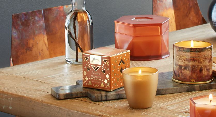 Illume candles in the Pumpkin Peppercorn fragrance
