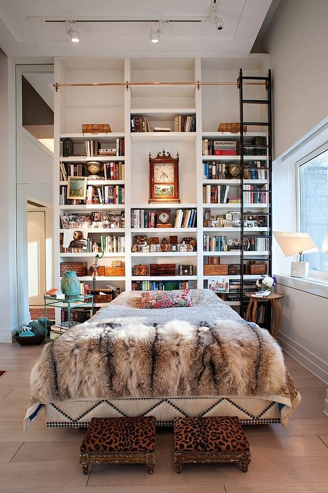 Charmant 17 Bookshelves That Double As Headboards