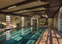 Indoor swimming pool of the extravagant Residence BO in Ukraine