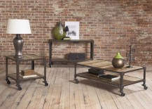 Industrial coffee table set