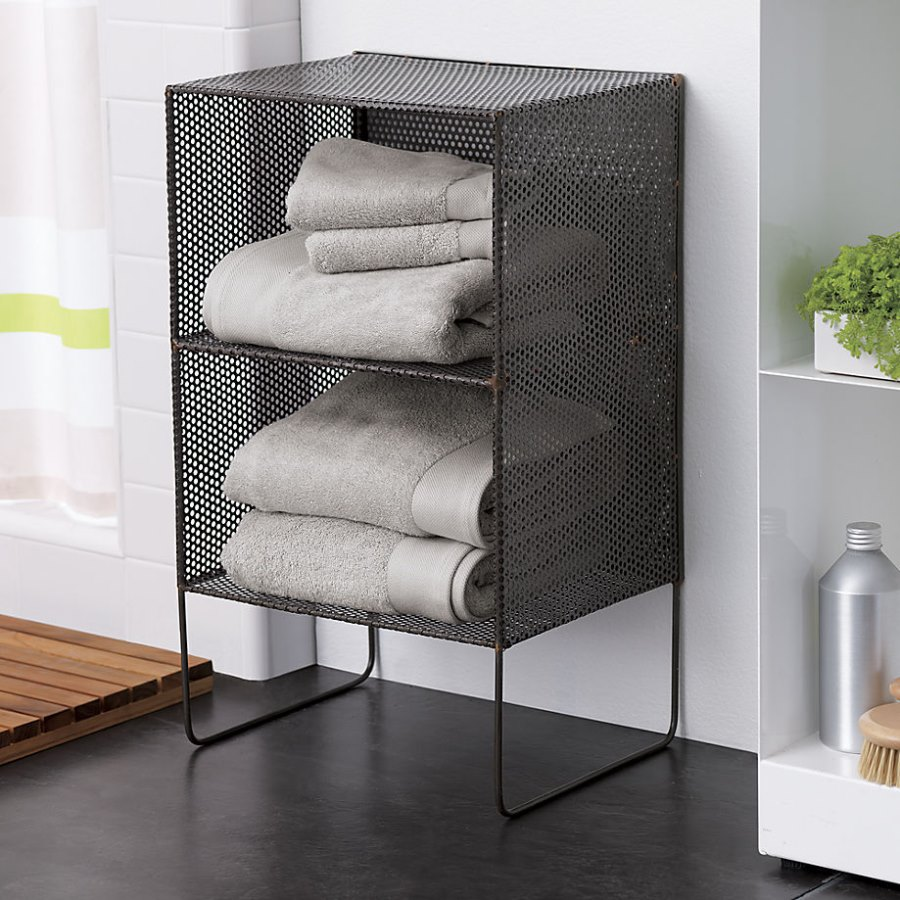 Industrial mesh shelving from CB2