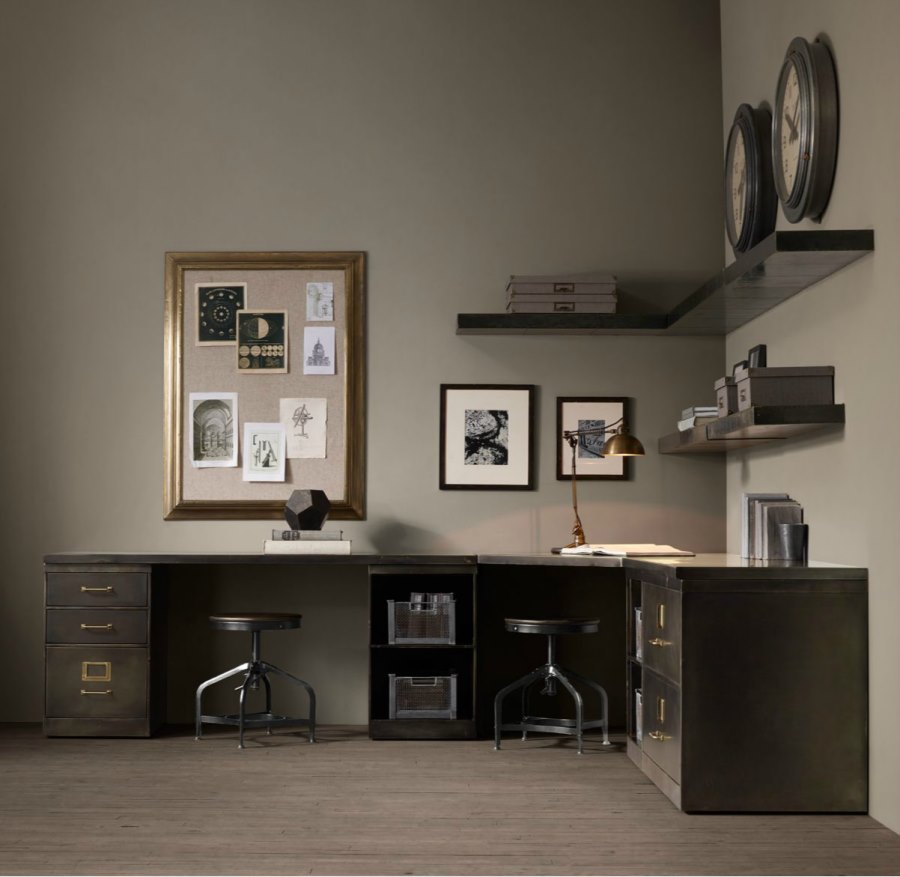 Industrial modern office system from Restoration Hardware