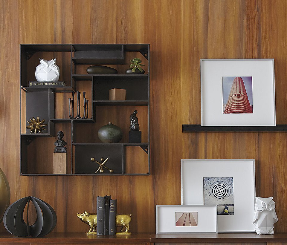 Industrial wall-mounted bookcase from CB2