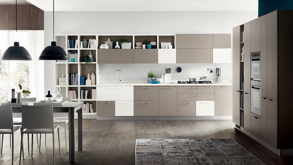 Innovative kitchen composition from Scavolini