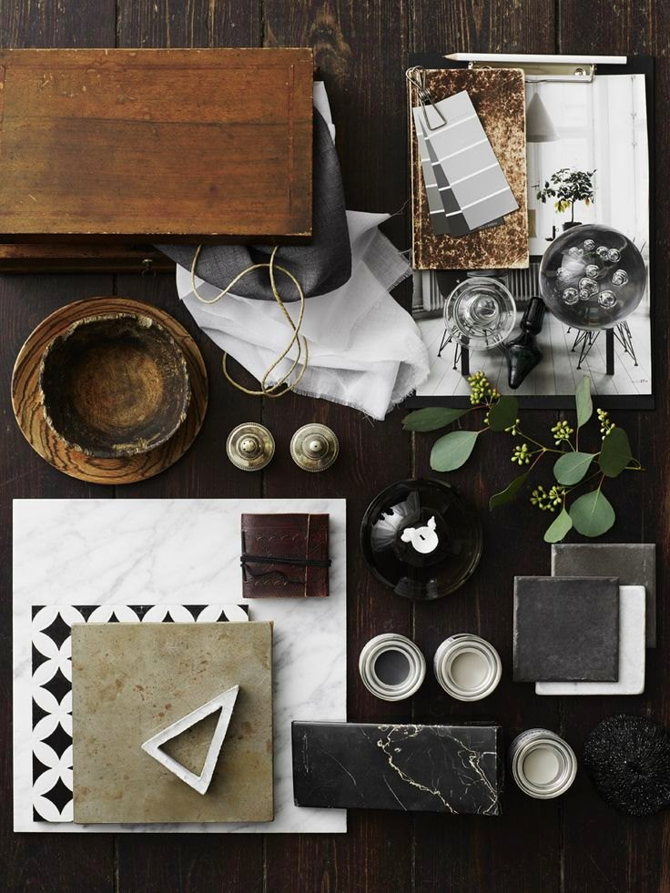 Inspiration board by Marilyn Ashley Design Associates