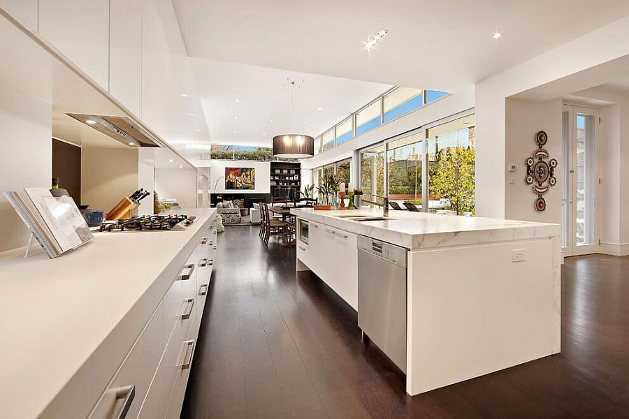 Interior of the home extends into the rear family zone effortlessly
