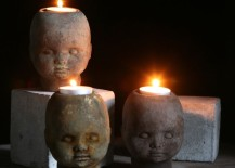 Johnny Head candle holders 217x155 15 Creepy Gothic Candle Holder Ideas for a Scary Halloween