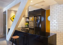 Kitchen black with a hint of yellow