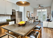 Kitchen, dining and living spaces rolled into one elegant area