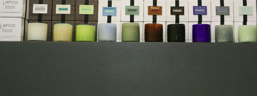 Lafco candles in glass containers