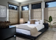 Lantern style lighting is the perfect choice for the Zen bedroom