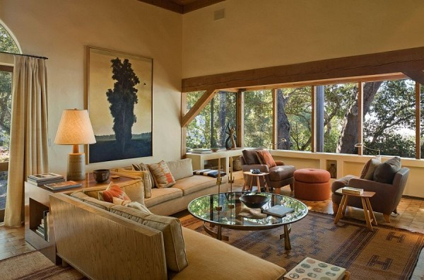Contemporary decor brings luxury to the big sur cabin for Big sur cabin