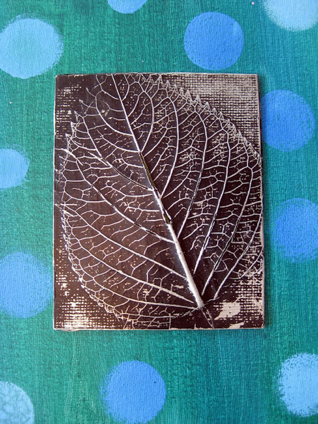 Leaf relief craft to use as wall art