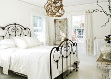Light and airy bedroom in white with shabby chic and coastal touches
