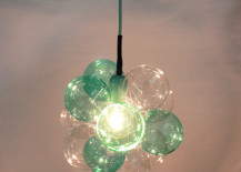 Limited edition petite cloud chandelier in mint julep by TheLightFactory