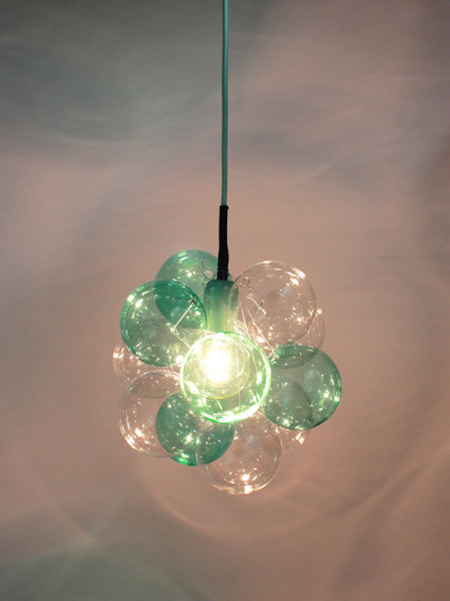 15 blown glass pendant lighting ideas for a modern and sleek glow limited edition petite cloud chandelier in mint julep by thelightfactory mozeypictures Images
