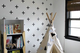 Little reading nook teepee besides a bookshelf 15 Whimsical Teepee Reading Nooks for Kids 15 Whimsical Teepee Reading Nooks for Kids Little reading nook teepee besides a bookshelf