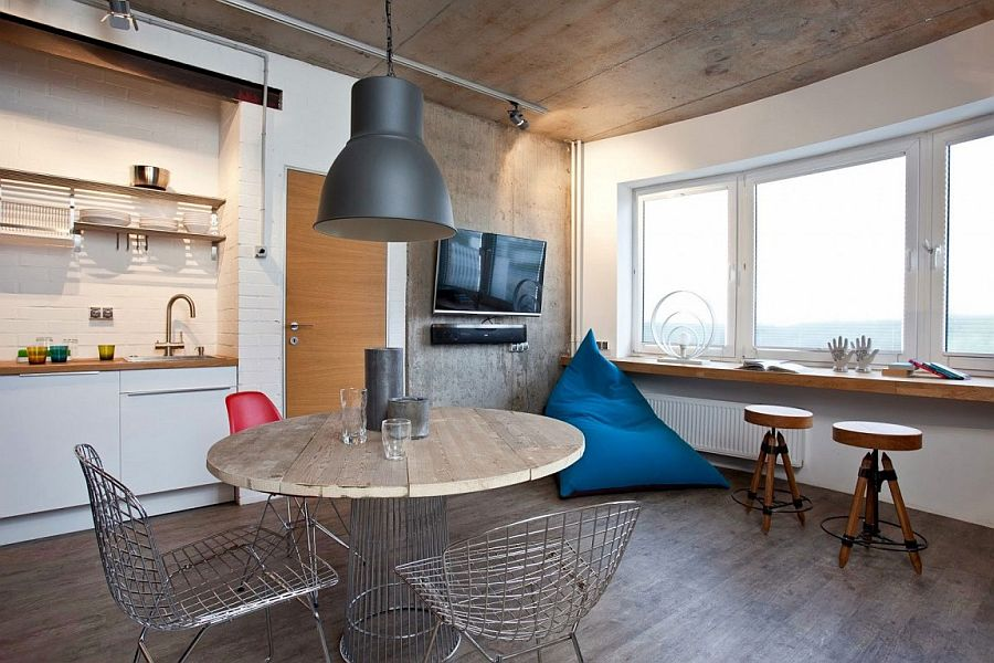 View In Gallery Living Room Also Serves As A Clever Home Workspace