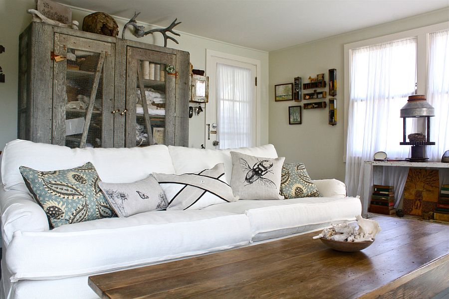 Living room decorating style that highlights natural objects [From: Shannon Malone]