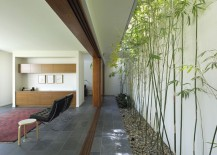 Long and linear courtyard with bamboo 217x155 16 Minimal Courtyards with Just a Hint of Nature