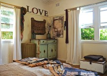 Look beyond whitewashed decor for a truly unique shabby chic bedroom