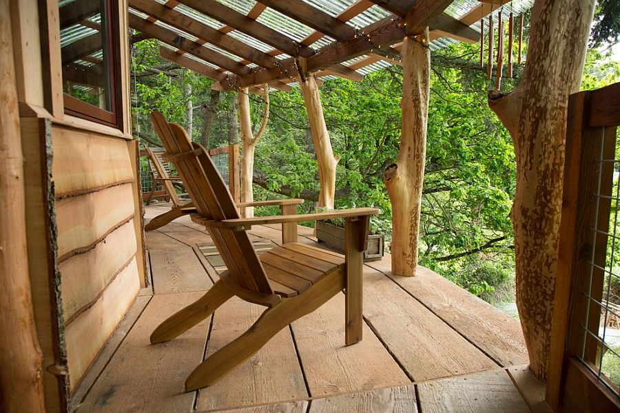 25 awesome rustic decks that offer a tranquil escape for Reclaimed wood decking