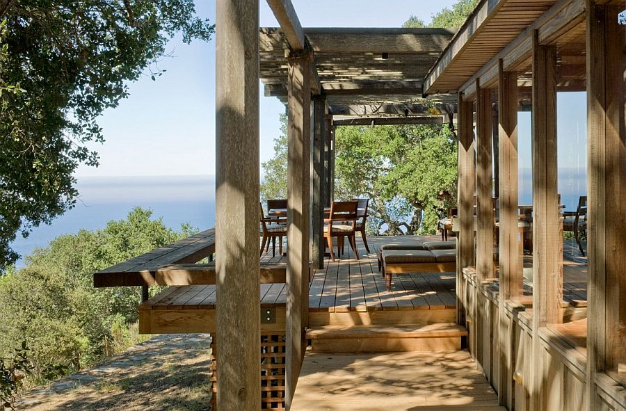 Lovely views of the distant ocean from the weekend cabin in Carmel